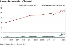 The growth of obesity in the UK